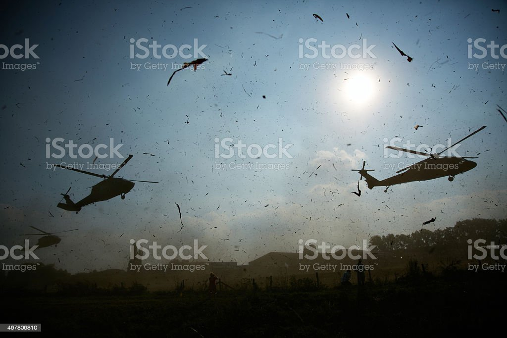 Blackhawk silhouette stock photo