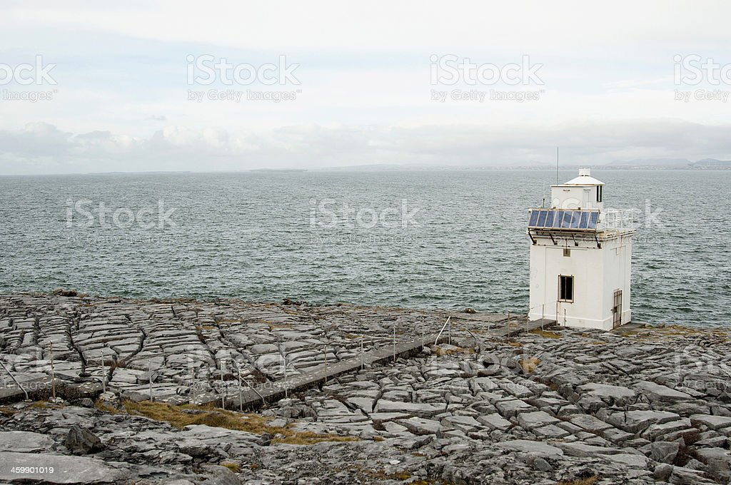 Blackhead Lighthouse in the Burren, Co.Clare - Ireland royalty-free stock photo