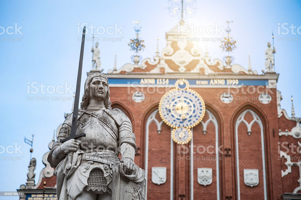 Blackheads house in Riga royalty-free stock photo
