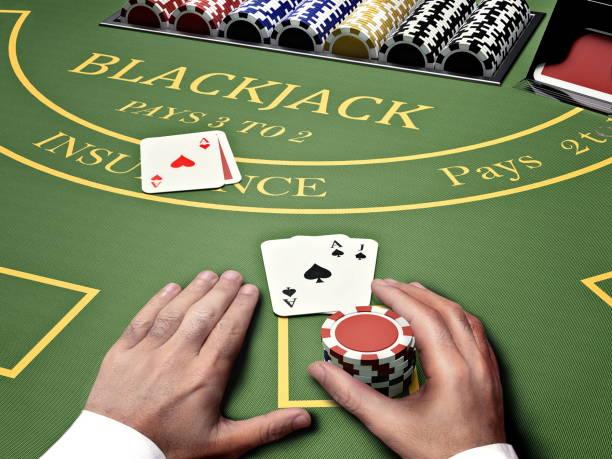blackjack casino bord - black jack bildbanksfoton och bilder