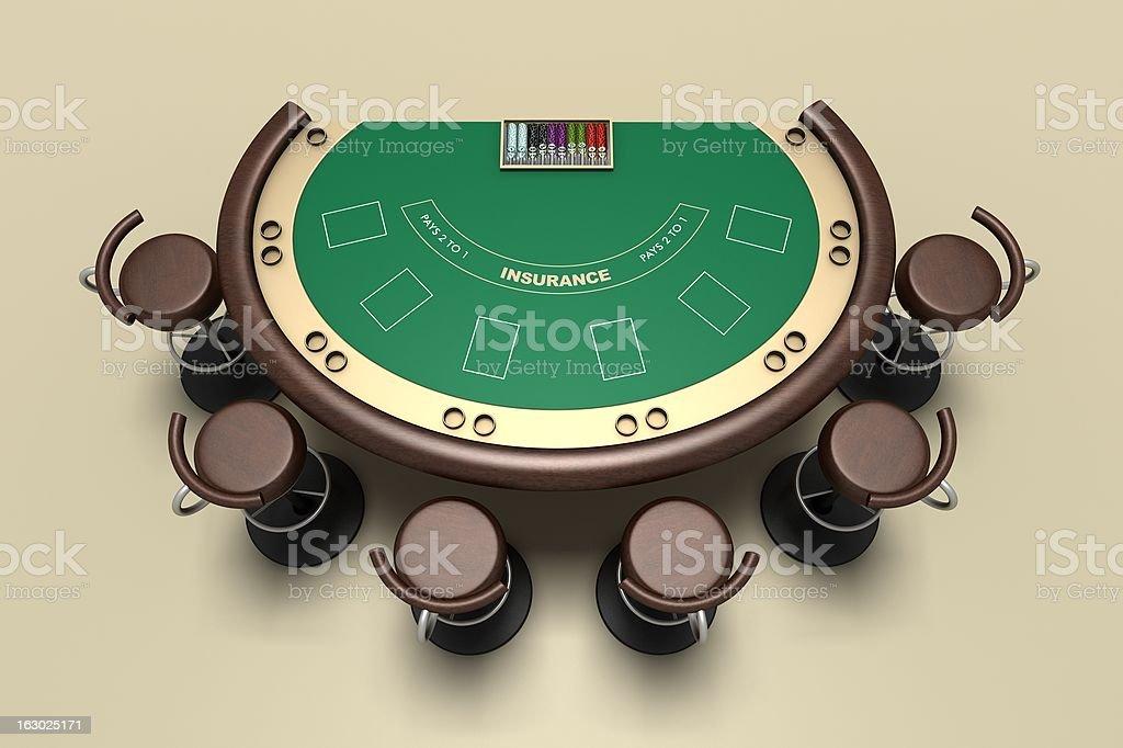 Tabella di Blackjack al casinò online interfaccia - foto stock