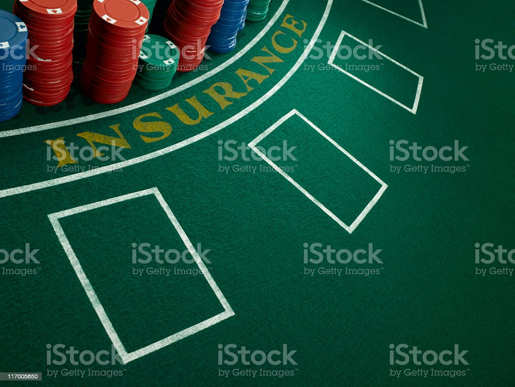 Blackjack Table royalty-free stock photo