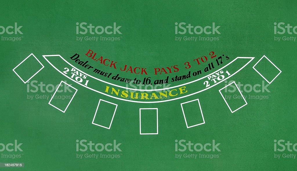 Tabella di Blackjack - foto stock