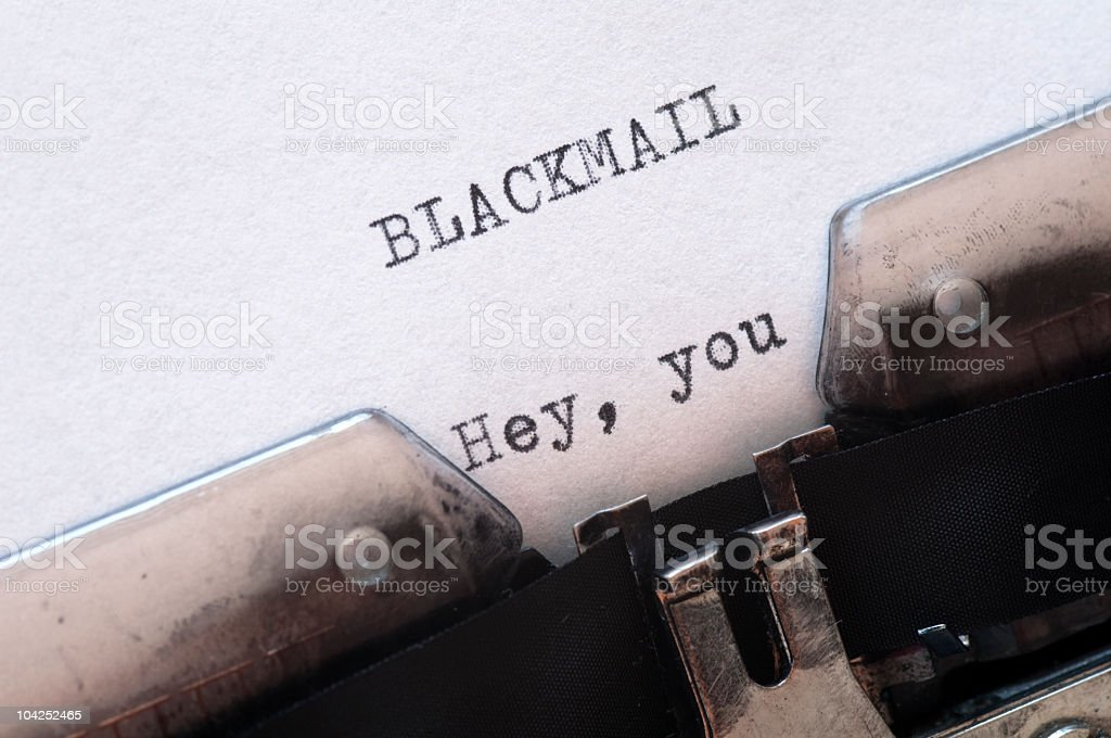 Blackmail stock photo