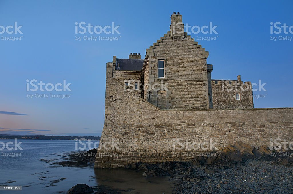 Blackness Castle on the River Forth royalty-free stock photo