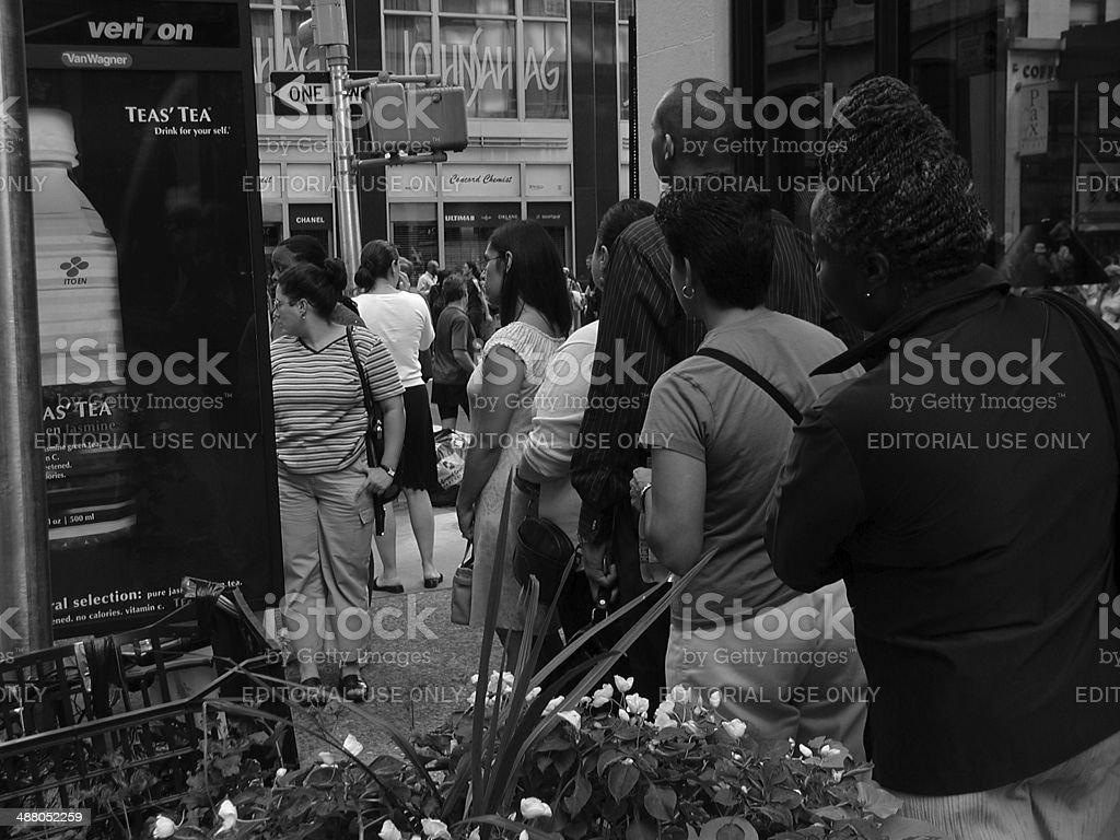 Blackout of 2003 Madison Ave New York City royalty-free stock photo