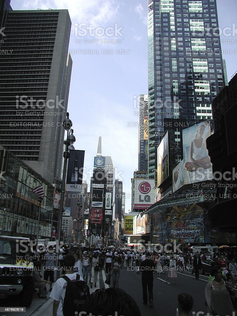 Blackout Of 2003 Times Square New York City Stock Photo - Download Image Now