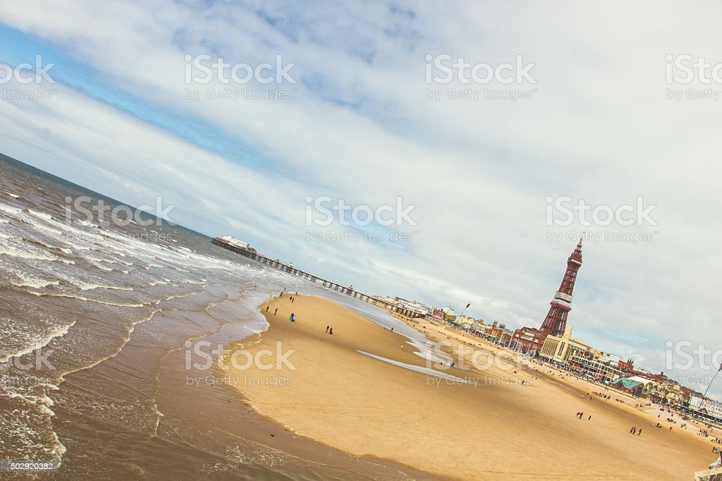 Blackpool Beach stock photo