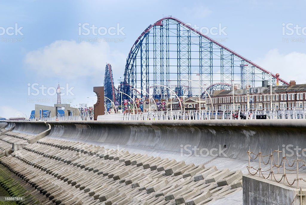 Blackpool Big one stock photo