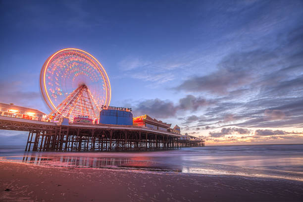Blackpool, Central Pier. stock photo