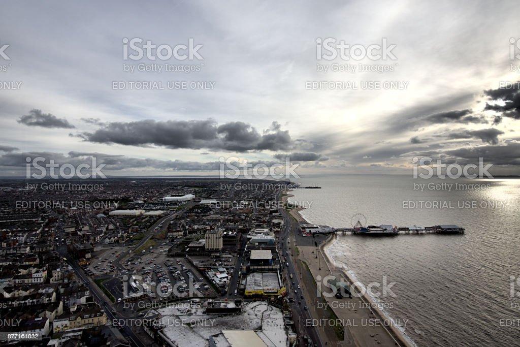 Blackpool Cityscape stock photo