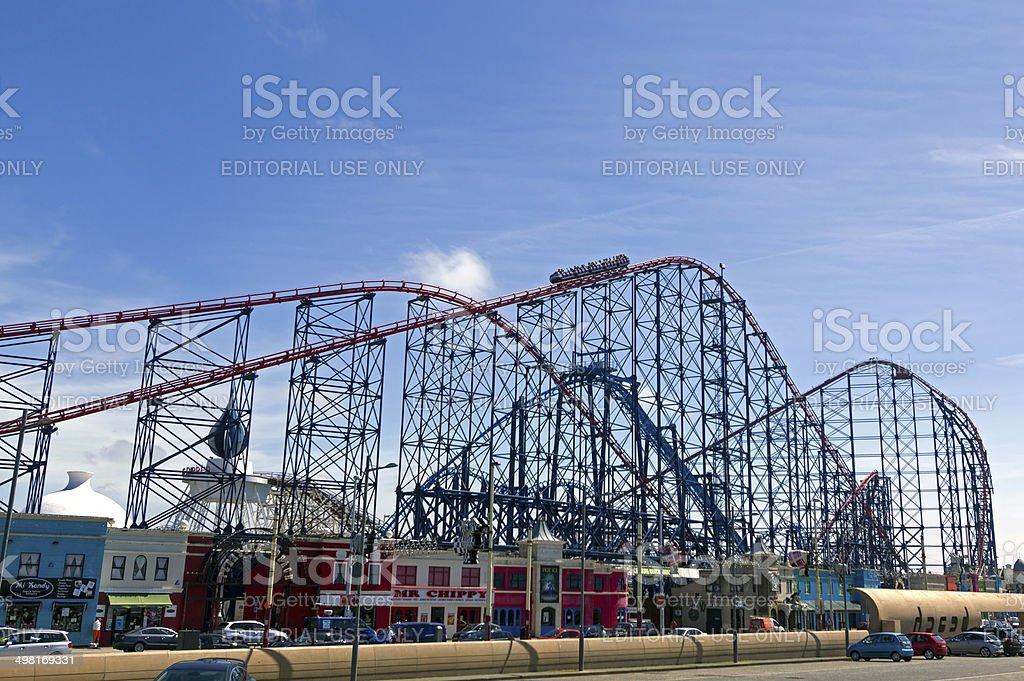 Blackpool Funfair stock photo