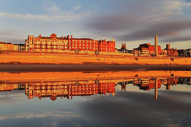 Blackpool Grand Metropole Hotel Reflection stock photo