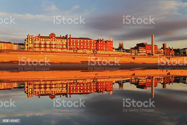 Blackpool Grand Metropole Hotel Reflection Stock Photo - Download Image Now