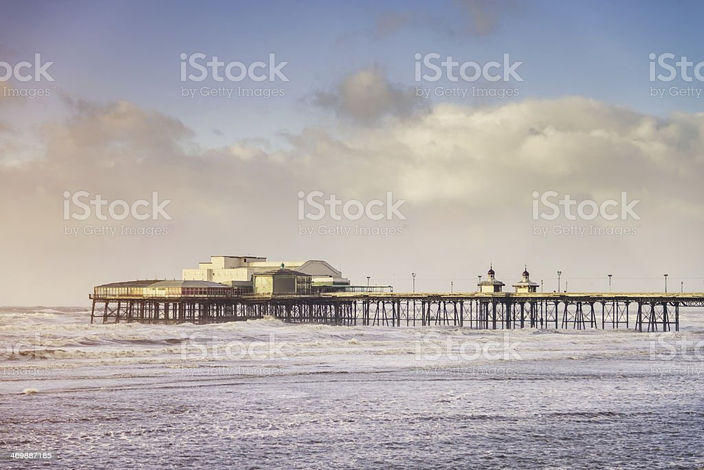 Blackpool North Pier at Sunset stock photo