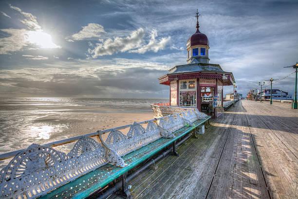 Blackpool North Pier. stock photo