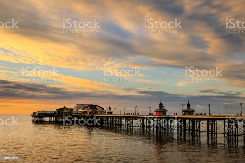 Blackpool north pier stock photo