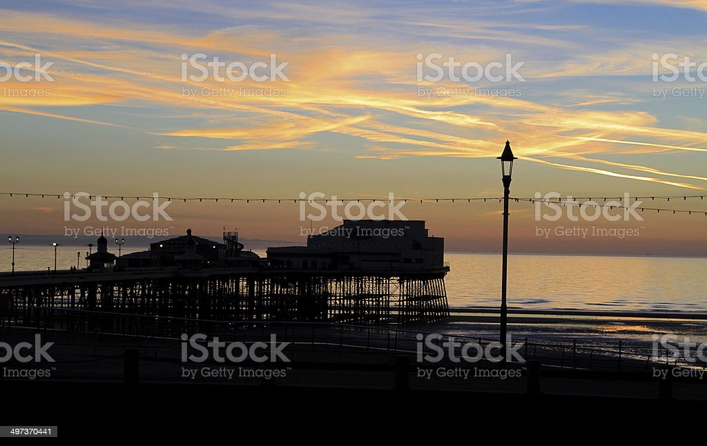 Blackpool North Pier Sunset royalty-free stock photo