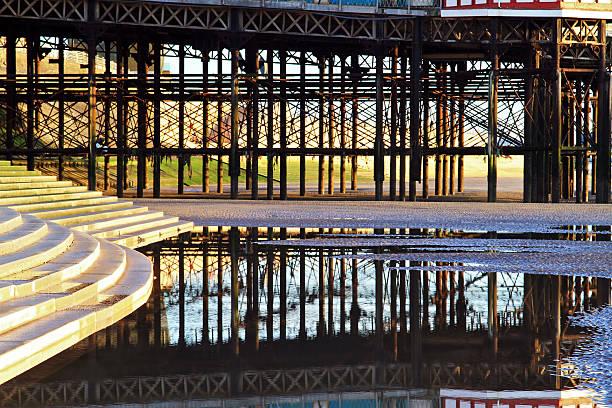 Blackpool Pier Reflection stock photo