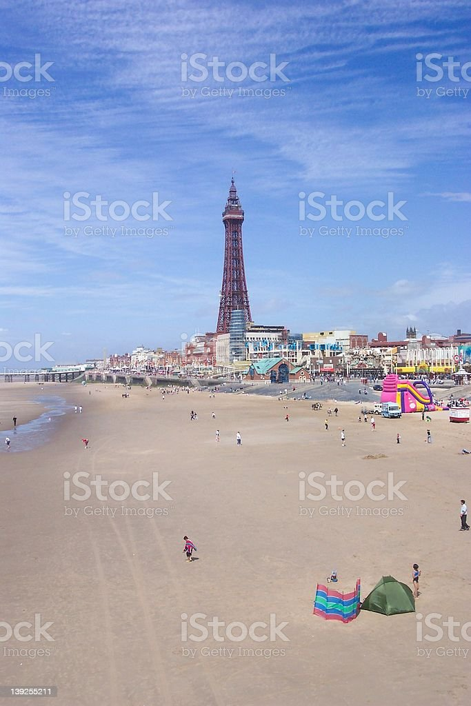 Blackpool Pleasure Beach royalty-free stock photo
