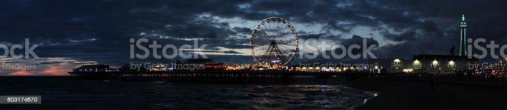 Blackpool Pleasure Beach stock photo