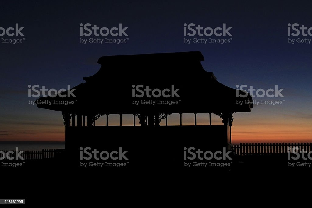 Blackpool Prom Shelter stock photo