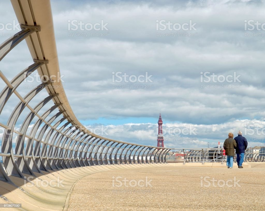 Blackpool Promenade stock photo