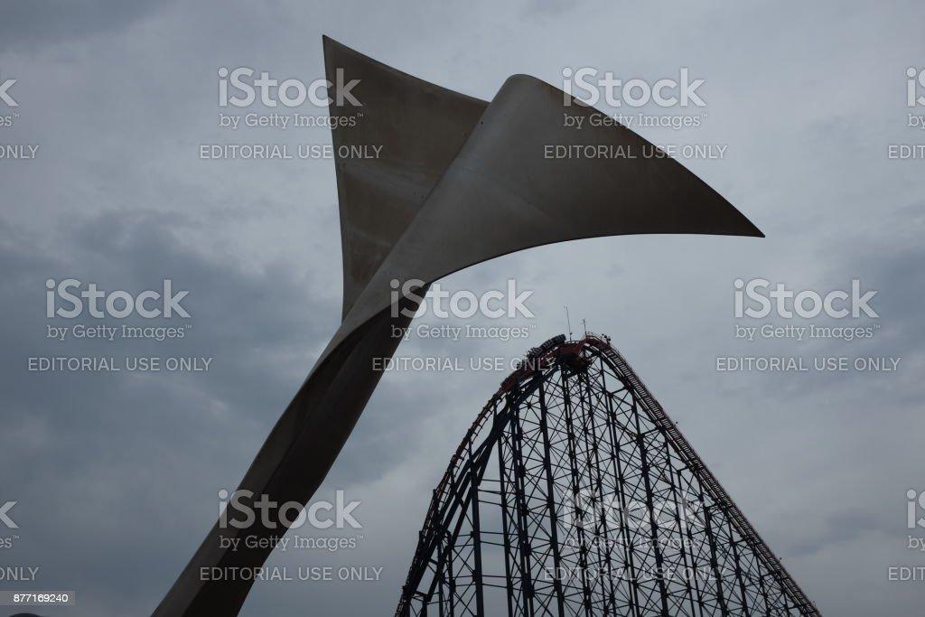 Blackpool rollercoaster stock photo