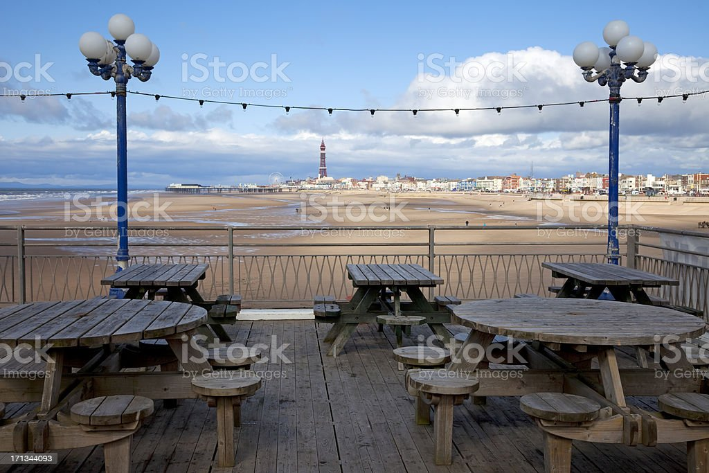 Blackpool Sands, view from the pier royalty-free stock photo