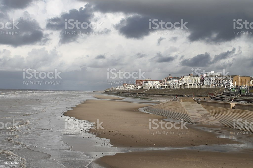 Blackpool shoreline before the Rain stock photo