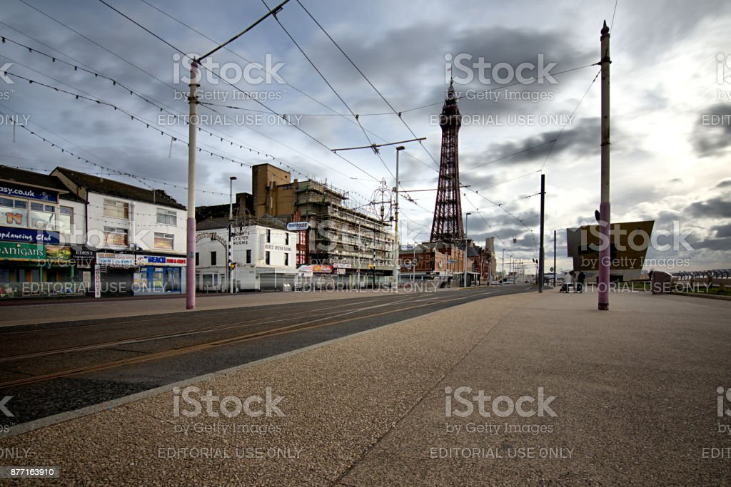 Blackpool Street View stock photo