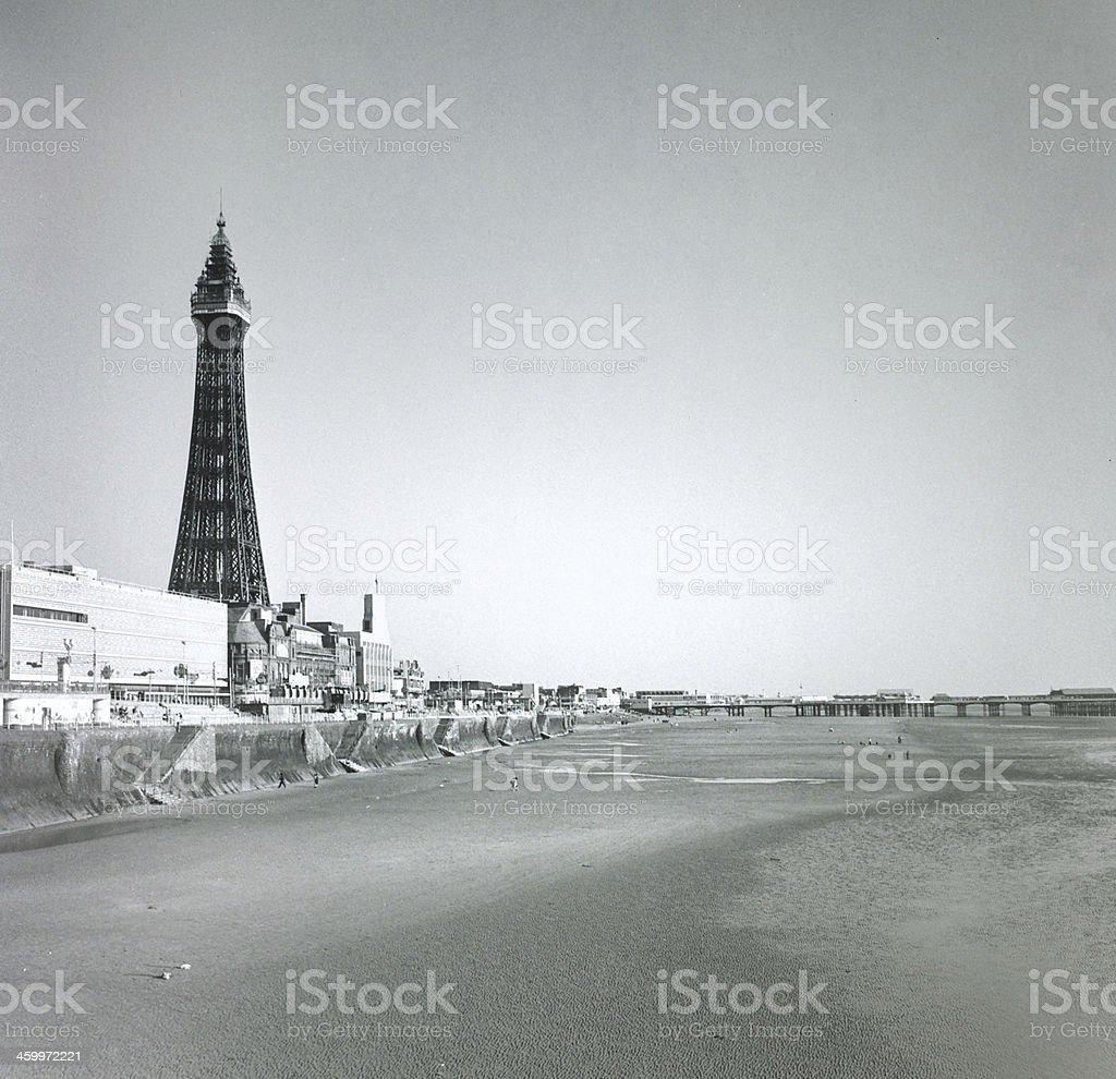 Blackpool summer 1989 stock photo