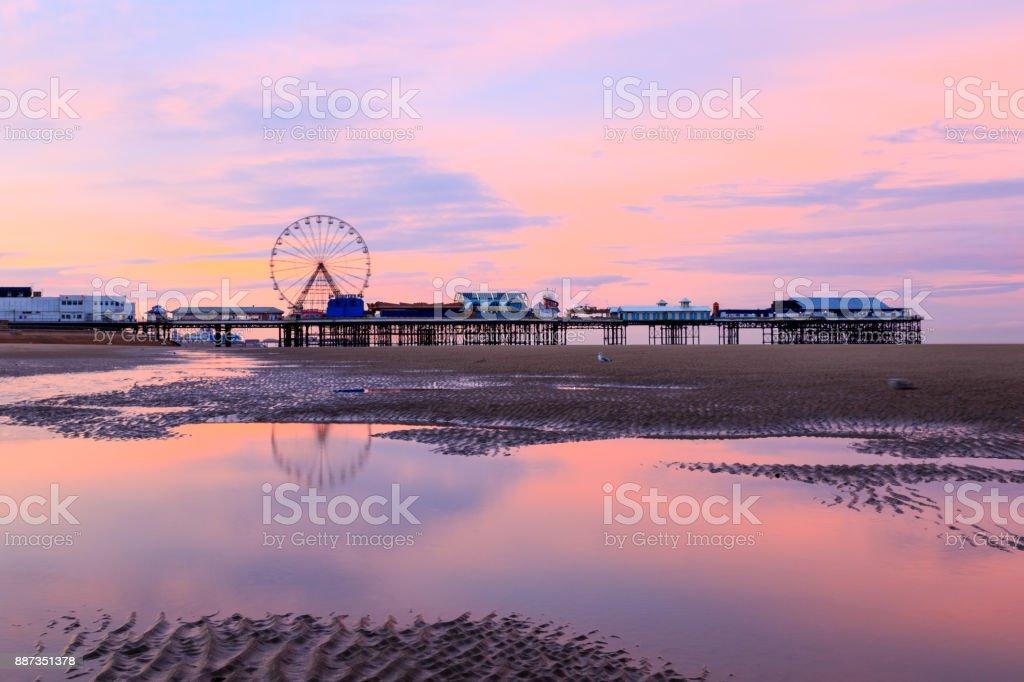 Blackpool Sunrise stock photo