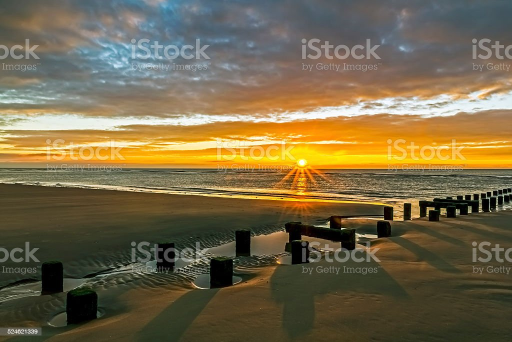Blackpool Sunset stock photo