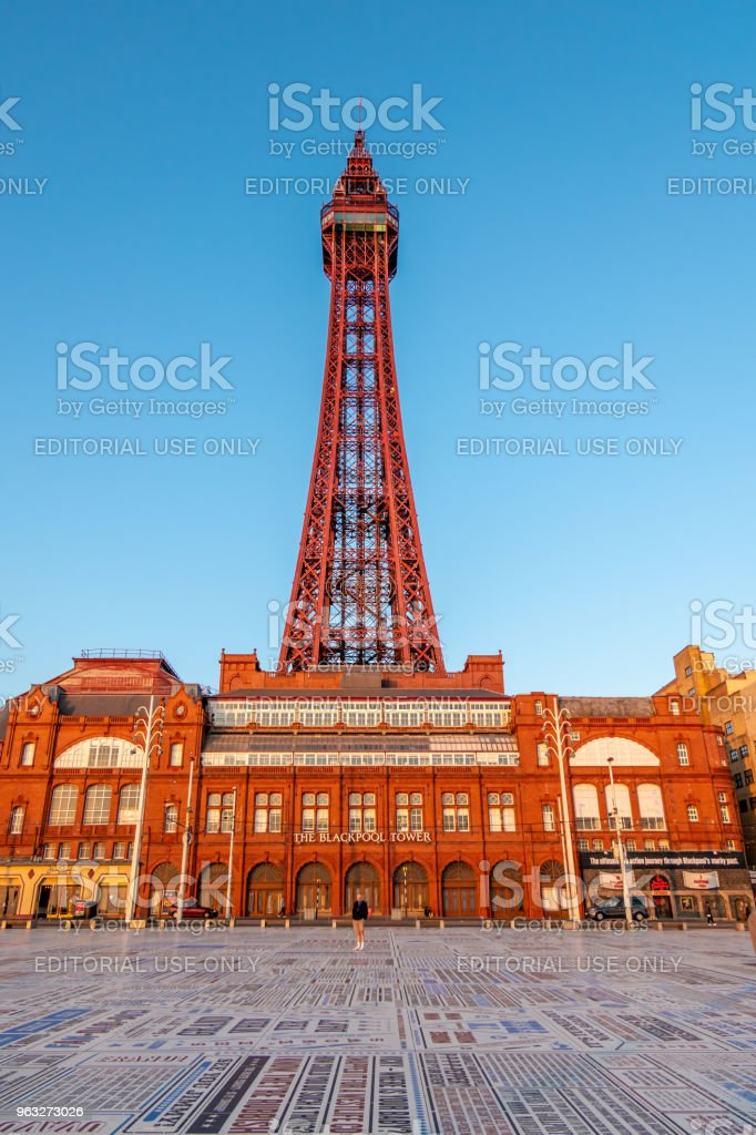 Blackpool Tower and Entrance stock photo