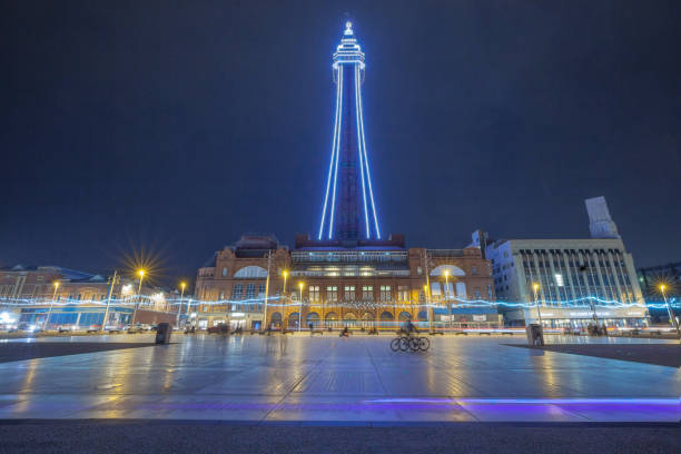 Blackpool Tower and Promenade stock photo