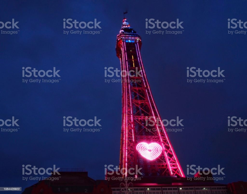 Blackpool  Tower  in Lights stock photo
