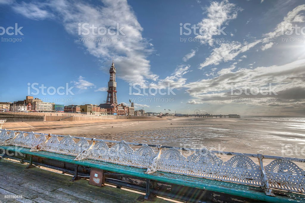 Blackpool Tower. stock photo