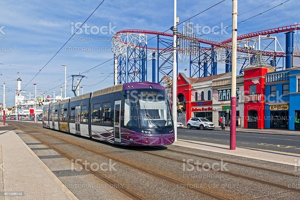 Blackpool Tram foto stock royalty-free