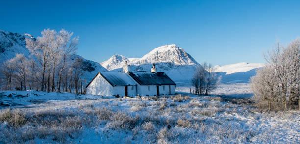 blackrock cottage glencoe stock photo