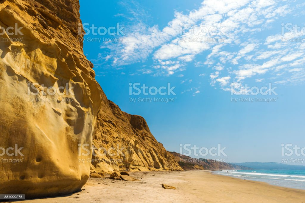 Black's Beach at Torrey Pines State Reserve, San Diego stock photo
