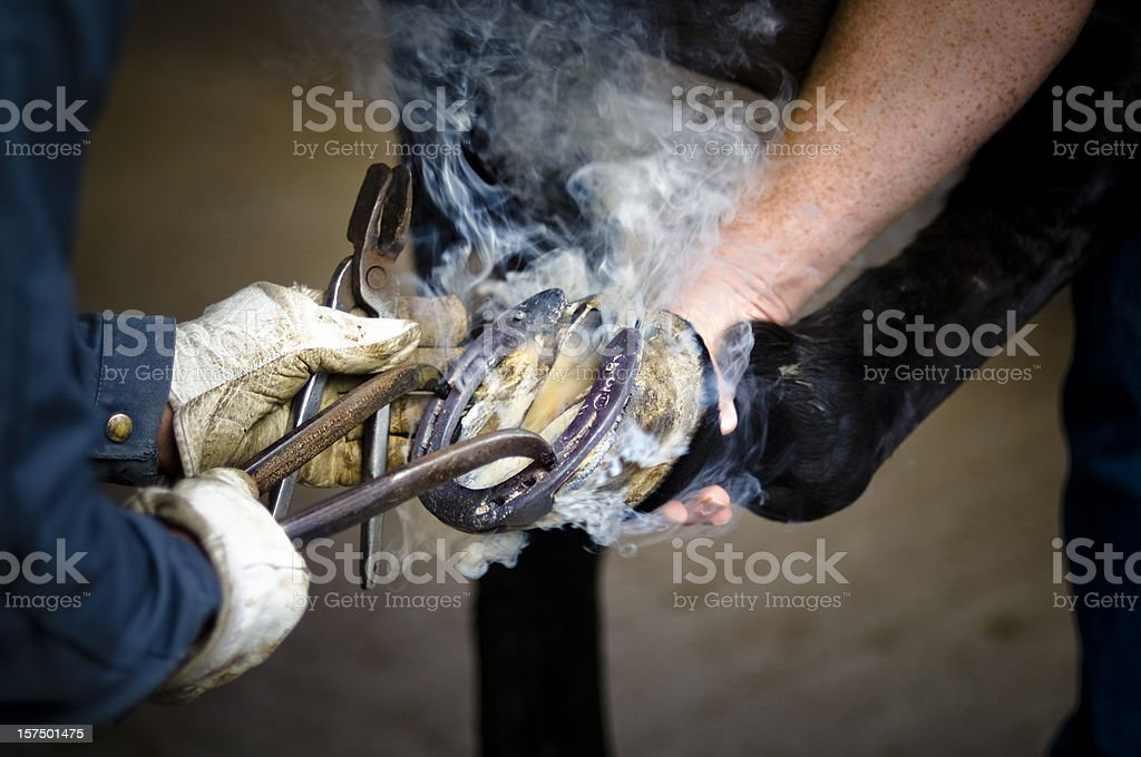 Blacksmith Action stock photo
