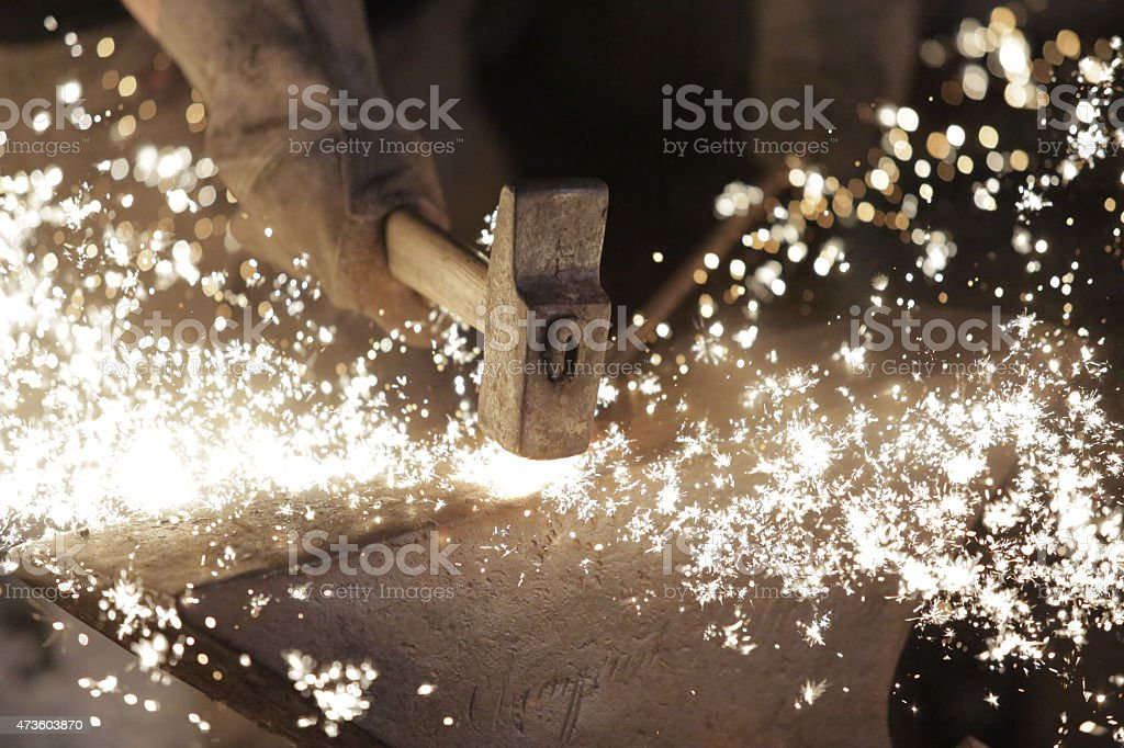 Blacksmith art stock photo