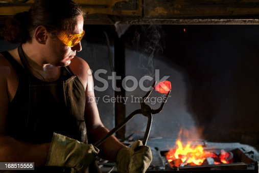 istock Blacksmith at work 168515555