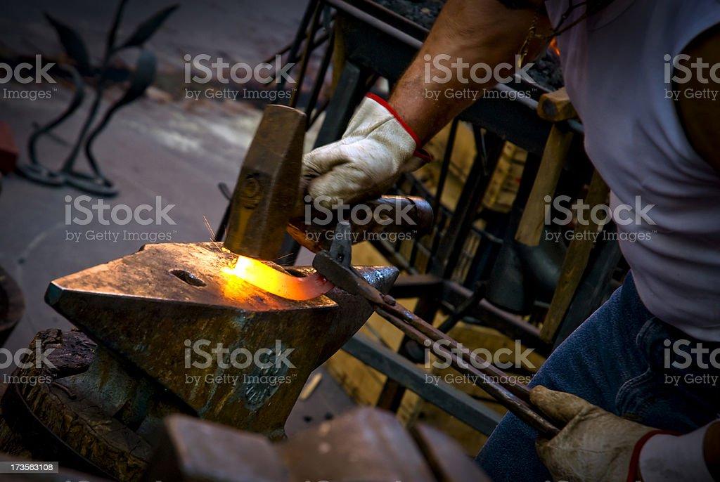 Blacksmith at work royalty-free stock photo