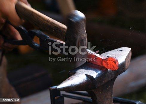 istock Blacksmith at work. 453527695