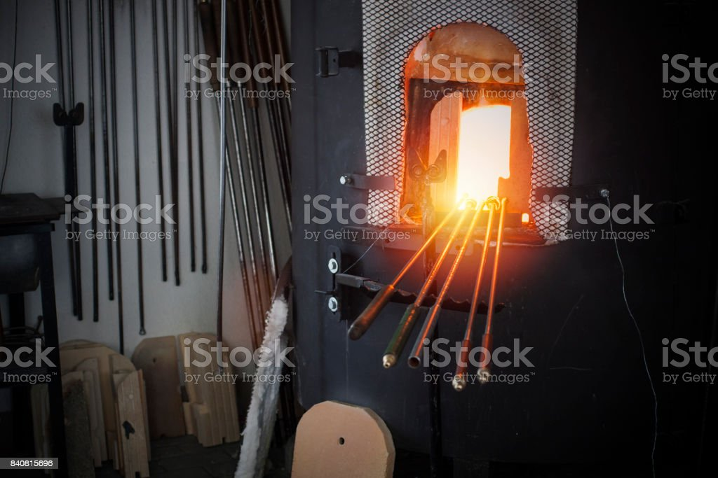 Blacksmith crafting tools. stock photo