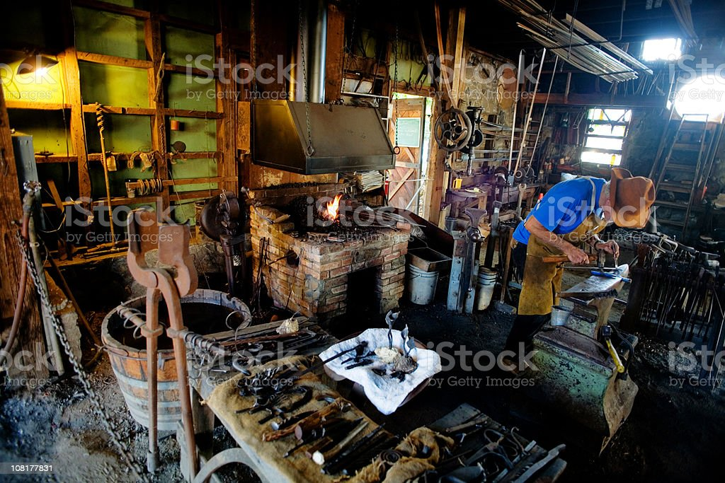 Blacksmith royalty-free stock photo