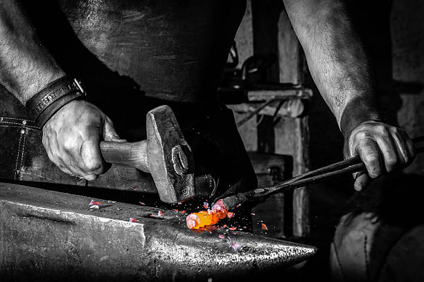 blacksmith blacksmith anvil stock pictures, royalty-free photos & images
