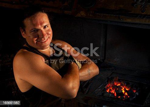 istock Blacksmith portrait 165661582